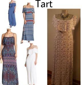 Tart Tacita ruffled OTS maxi dress.  Sz Med